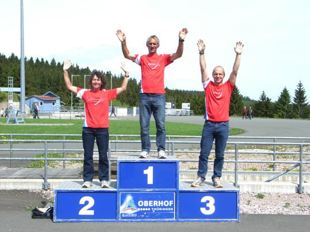 Siegerpodest Rennsteiglauf